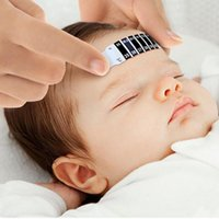 Wholesale Forehead Strip - Baby use strip Thermometer Reusable Flexible Toddler Forehead Care Health body temperature Monitors test paste