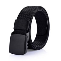 Wholesale Wholesale Polyester Resin - men brand Belt Snap outdoors casual Military training Anti allergy Resin buckle without metal Belt Polyester fiber Designer Belts