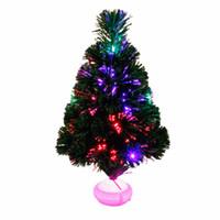 ingrosso fibre ottiche-Albero di Natale 45 cm in fibra ottica nastro led luce lanterna simulazione colore albero di Natale festa festa regalo