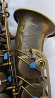 Wholesale copper alto saxophone - Professional Brand Quality Brass Musical Instrument SELMER Mark VI Alto E-flat Saxophone Vintage Copper Surface Treatment Eb Tune Sax