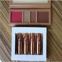 Wholesale Blush Eyeshadow Lipstick - Koko lipstick Kollection In Love with the New 4 color and Koko 4 colors Palette Blush Highlighter Contour Cosmetics eyeshadow