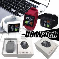 montre intelligente huawei achat en gros de-Smart Montre U8 Smartwatch U montre pour iOS iPhone Samsung Sony Huawei téléphones Android En boîte-cadeau