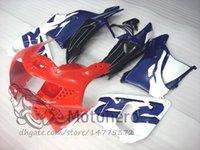 tam takım kaplama takımları toptan satış-Honda CBR900RR 919 Yıl 1998 için Kırmızı Mavi D2356 Cowlings ABS Fairings - 1999 CBR900 RR 98 99 Komple Fairing Seti Yüksek Kalite Yeni Hulls