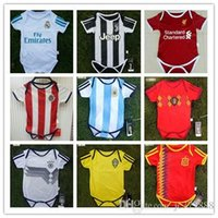 Wholesale Wholesale Real Madrid - Best quality 2018 Baby jersey Real Madrid shirt 1-2 years old Baby Short sleeve jersey Ronaldo Famous teams Little shirt Football Small 6-8