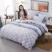 Wholesale super king sized bedding online - Refreshing series Soft comfortable pc bedding set super king queen kids size Geometric figure duvet cover bed linen pillowcase