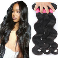 Wholesale India Hairs - Brazilian Body Wave Straight Human Hair Bundles Unprocessed Mink Brazilian Peruvian Malaysian India Hair Weave Bundles Body Wave Straight