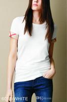 senhora da forma camisetas venda por atacado-2018 Novo Verão Das Mulheres Da Marca 100% Algodão Tshirts Moda Xadrez Curto O Pescoço Das Senhoras Tops Tees Preto Branco T-Shirt Das Mulheres S-XXL