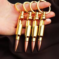 ingrosso apribottiglie chiave-Creativo Apribottiglie Portable Metal Bullet Forma Cavatappi con portachiavi Cucina Accessori Apribottiglie per regalo di compleanno 4jm BW