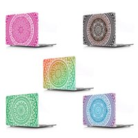 Wholesale Mandala Flower pattern laptop protective Durable Smooth touch hard plastic case For Macbook Pro Touch Bar