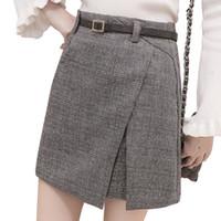9e03589f6f92 34% Off. NZ  16.44 · skirts long for women Sexy Party Plaid Zipper Wooden  Ear Slim High Waist Hip Short Mini Skirt