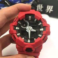 Wholesale working girls - 2018 student boy girl Mens Summer GA700 Sports Watches LED Waterproof LED Digital Shock Men Watch All Pointer ga700 Work Box free Shipping