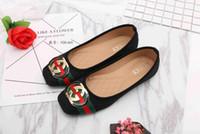 Wholesale Basic Fabric - 2018 Basic Flats for Women fashion dress shoes woman flat heels womens