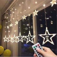 ingrosso le luci scintillanti delle stelle di stringa-Twinkle Star 12 Stars 138 LED String Lights Lights, Tende per finestre con 8 modalità lampeggianti Decorazione per Natale, matrimonio, festa