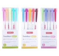 Wholesale pastel stationery for sale - Group buy 5pcs set Fluorescent pen Highlighter pen marker Pastel Soft Color Student Stationery Supplies Non zebra mildliner
