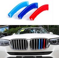 Wholesale grille cover trim resale online - 3pcs Front Center Grille Cover Decoration Trim Strips Fit For BMW X3 X4 F25 F26 EEA206