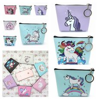 Wholesale key bag zipper for sale - 12styles Mini Unicorn cartoon Coin Purses girl Zipper Wallet unicorn Wallet Money Bag card Pocket unicorn Key Holder Bag FFA842
