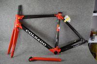 rote carbon fahrradrahmen großhandel-Red Colnago C60 C64 Rahmen Carbon Frameset Rennrad Rahmen Carbon Fahrrad schwarz Farbe Design Frameset A01