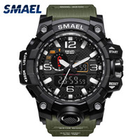 Wholesale delicate watches - SMAEL Elaborate Make Forest Style Jungle Army Green Delicate Watch Super Man Style Watches Do For The Teenage Series 1545
