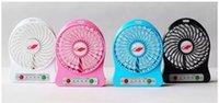 fãs do usb da porcelana venda por atacado-2017 Nova China atacado portátil mini handheld Forte Mesa de Vento Mesa cool sumer usb ventilador com bateria customze logotipo