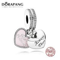 ingrosso braccialetto dei migliori 925 amici-DORAPANG 100% argento 925 best friends ciondola il fascino morbido rosa ciondolo smalto perline per il braccialetto del regalo madre fai da te