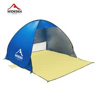 Wholesale Blue Awning - 2017 new beach tent pop up open 1-2person sunshelter quick automatic 90% UV-protective awning tent for camping fishing sunshade