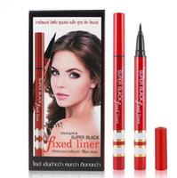 Wholesale Liquid Gel Pen - YANQINA NEW Black Long Lasting Liquid Eyeliner Pencil Waterproof Smudge-Proof Cosmetic Beauty Makeup Brush Eyeliner Gel Pen