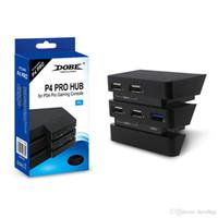 ingrosso usb esteso-Accessori PS4 Pro Play Station 4 Pro Host Hub USB 2.0 2.0 Porta USB Console di gioco Estendi l'adattatore USB per PlayStation 4 Pro