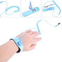 câble de mise à la terre achat en gros de-2pcs réglable anti-bracelet électrostatique ESD câble de décharge poignet réutilisable dragonne à la main avec fil de terre