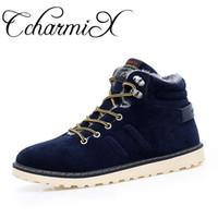 137421203a CcharmiX Marca Mens Sapatos de Inverno de Moda Casual Homens Sapatos  Masculinos Adulto Botas de Neve de Inverno Barato Básico Botas De Couro Dos  Homens
