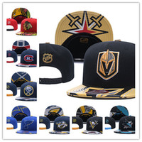 Wholesale running man hat - 2018 News Ice hockey Adjustable Snapbacks Hip hop Flat hat Sports Team The High quality embroidery Caps For Men And Women-B
