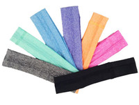 banda para la cabeza negra al por mayor-Antitranspirante Heandband Fitness Hairlace Yoga Sweatband Elásticos diademas capaces de mezclar cualquier color