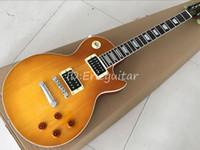 özel elektrik gitarı eğik çizgi toptan satış-Özel mağazalar slash honeyburst elektro gitar, Slash standart gitar, Katı maun guitarra, ücretsiz kargo