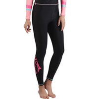Wholesale anti uv swimwear online - Women Men Surfing Leggings Surfing Wetsuit Pant Rash guard Tight Pants Swimsuit Anti Jellyfish UV Snorkeling Swimwear Pants Plus Size XL H
