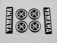 decalques yamaha venda por atacado-Black Silver 3D Emblema Decalque 7 cm plus Diapasão 3 cm para Todos Os Modelos Yamaha motocicletas Personalizado