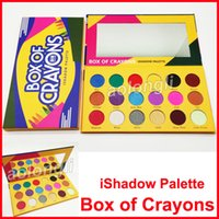 Wholesale cosmetic beauty boxes - Newest makeup Box of Crayons iShadow eye shadow Palette Beauty 18 colors Matte & Shimmer Eye shadow Palette Cosmetics DHL free shipping