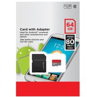 Wholesale 256gb Sd - 80MB S 128GB 256GB TF Flash Memory Card Class 10 Android Robot Smart Phone 32GB 64GB 16GB with Free SD Adapter Retail Blister Package