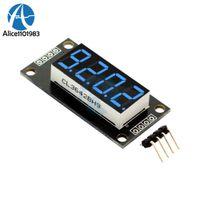 mavi rakam toptan satış-4-Digit LED Modül Kurulu 7 Segmentler Dijital Ekran Tüp 0.36