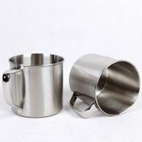 ingrosso latte latte-250 ml in acciaio inox caffè tè tazza tazza campeggio viaggi diametro 7 cm birra latte espresso caffè infrangibile infrangibile tazza tazza wx9-303