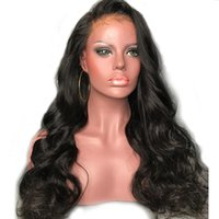 Wholesale real human unprocessed hair wigs for sale - Group buy Human Hair Wigs Wet And Wavy Vrigin Unprocessed Real Long Wavy Full Lace Front Wigs For Black Women Brazilian Wavy Human Hair Wig