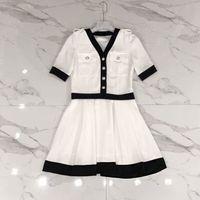 official photos a4822 93a13 Kaufen Sie im Großhandel Schwarzes Ende Weißes Kleid 2019 ...