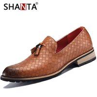venda de sapatos masculinos de couro venda por atacado-SHANTA 2018 Novo Mens Vestido Sapatos Mocassins Homens Sapatos De Couro Formal Casual Masculino Venda Quente Confortável