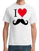 crew hair Australia - I Love Moustaches - Funny Facial Hair - Mens T-Shirt