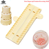 Wholesale wholesale gum paste - Lovely Pearl Beads Shape Sugarcraft Fondant Cutter Mold Gum Paste Decorating Mould DIY Cake Decorating Tools Drop Shipping