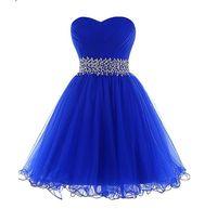 ingrosso vestiti di promenade blu sequined-Abito da cerimonia corto con paillettes blu royal Abito da cerimonia sexy con paillettes perline Abiti da ballo verde menta abiti da donna eleganti neri