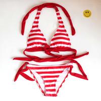 Wholesale green stripe bikini - Girl Swimwear Summer Stripe Swimsuits Bathing Suit Swimwear Summer Bikini Set Green Color 4 s l