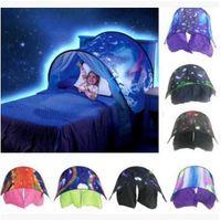 Wholesale Foldable Baby Mosquito Net Tent - 7 Styles 80*230cm Folding Type Unicorn Moon White Clouds Cosmic Space Baby Mosquito Net Without Night Light CCA8545 30pcs