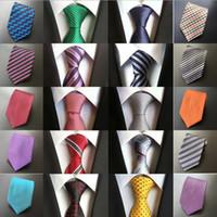ingrosso nuovo tipo vestito uomo-2018 Nuovo vestito casuale di alta qualità da uomo d'affari professionale cravatta da uomo di tipo poliestere di seta all'ingrosso di cravatta