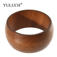 Wholesale cheap wholesale jewelry for men online - NEW Big Round DIY Natural Wooden Large Bangles Wood Bracelet Jewelry Unique Bangles Cheap Bracelets For Women Men