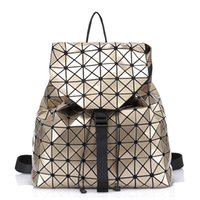 Wholesale Free Laser Patterns - New Geometric pattern Laser BaoBao Unisex Backpack Women Dazzle Color Plaid Female Fashion Sequins Mirror Free shipping