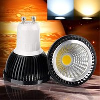 Wholesale Dimmable LED COB Bulb W W W high bright Lamp GU10 E27 AC85 V MR16 V LED light Cool white Spotlight downlight